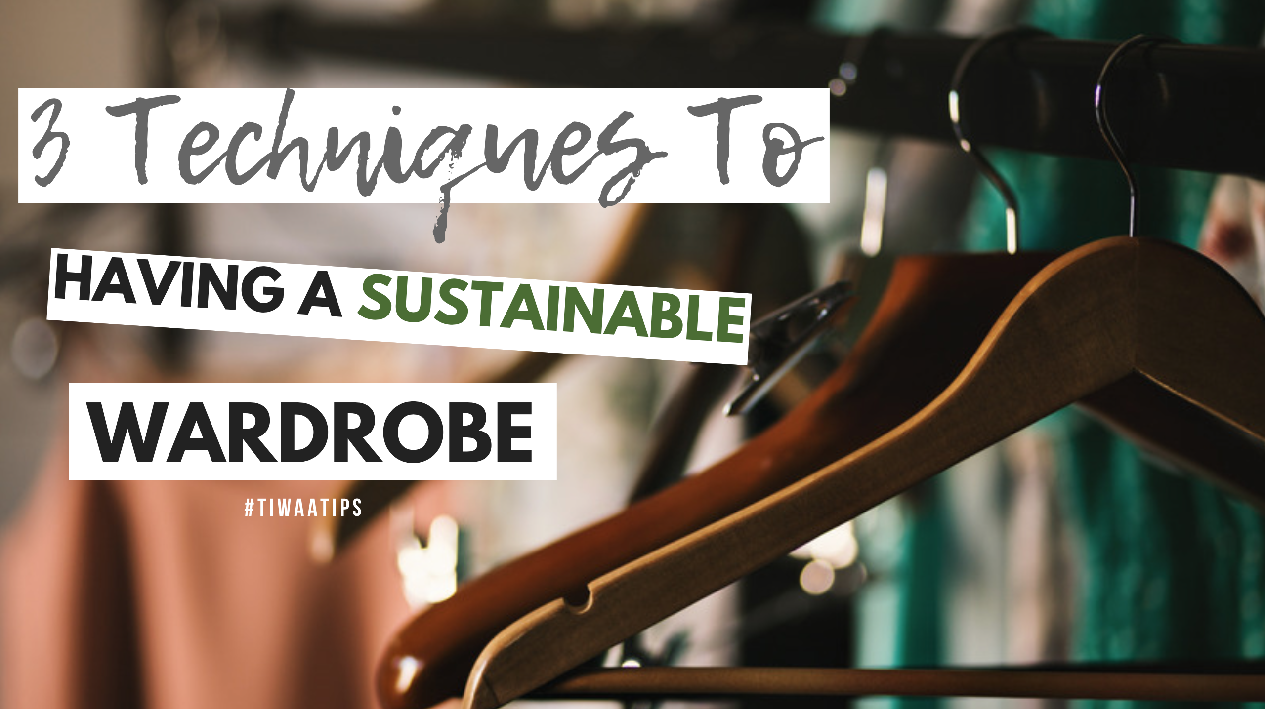 My wardrobe is a jungle. There. I said it! I'll be first of many to admit the truth that is in the closet. Restrained between four walls, within wooden drawers, and hung on garment racks— I have a problem... a sustainable wardrobe is nowhere to be found and quite frankly, the thought of...